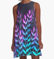 Glühendes Laub A-Linien Kleid