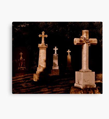 Grave Stones Canvas Print