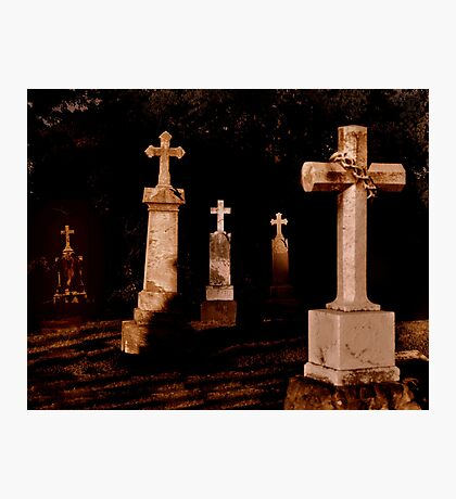 Grave Stones Photographic Print