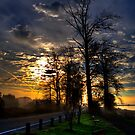 Sunrise Over River Road by ClaytonPerry
