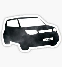 Black Cloudy Soul Sticker