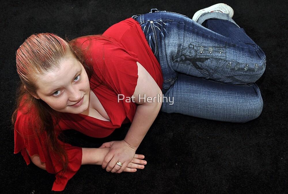 Jules reclining! by Pat Herlihy