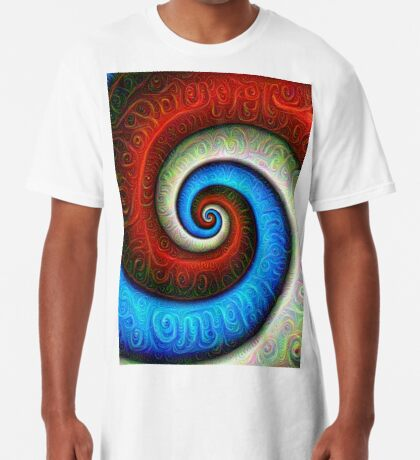 #DeepDream Color Fibonacci Visual Areas Long T-Shirt