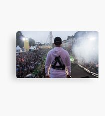 Palace Triangle / Live Artist Wearing Hoodie Canvas Print