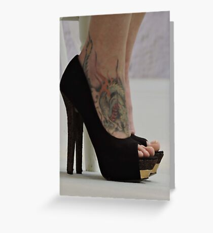 Heels With The Dragon Tattoo  Greeting Card