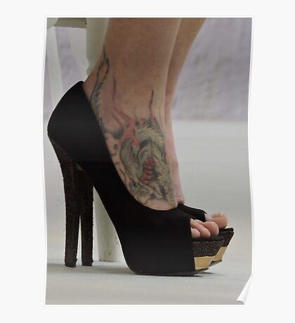 Heels With The Dragon Tattoo  Poster