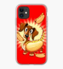Dachshund Hot Dog Cute and Funny Character iPhone Case