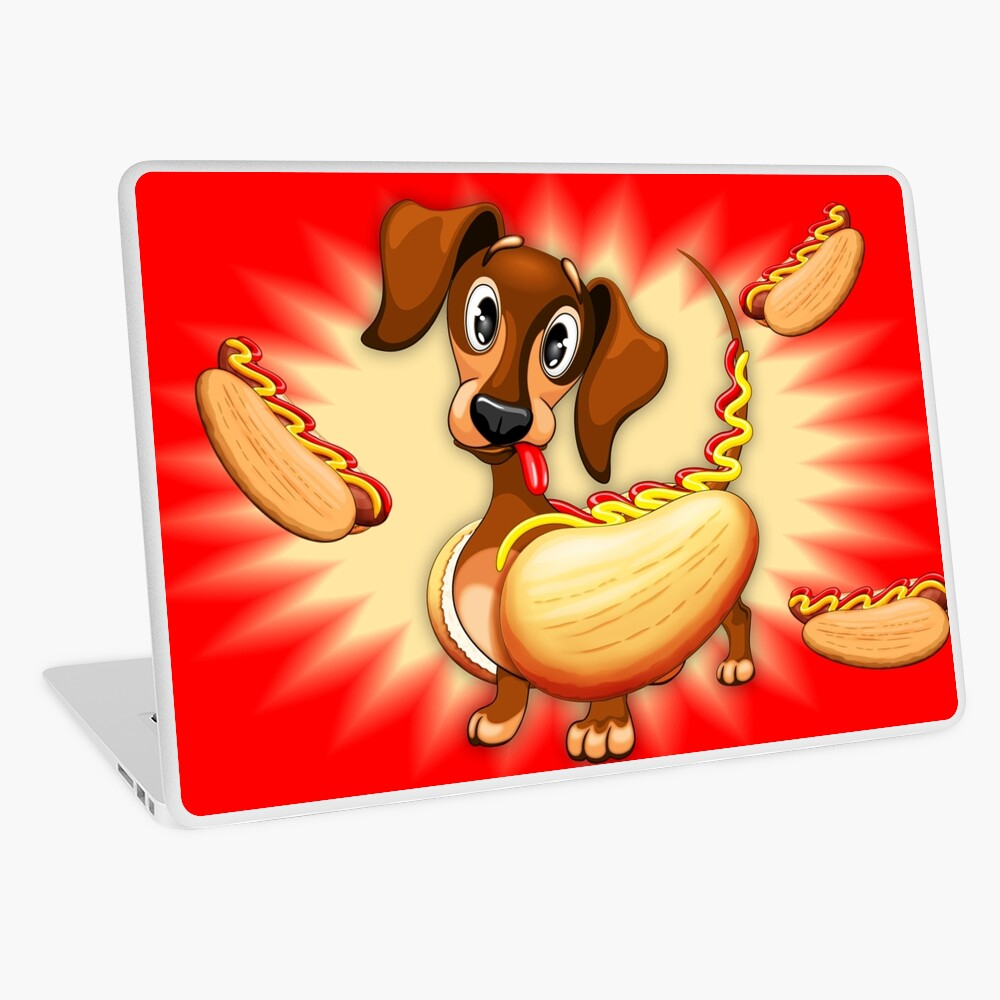 Dachshund Hot Dog Cute and Funny Character Laptop Skin