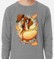 Dachshund Hot Dog Cute and Funny Character Lightweight Sweatshirt
