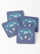 Crit Success - Blue Coasters