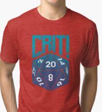 Crit Success - Blue Tri-blend T-Shirt