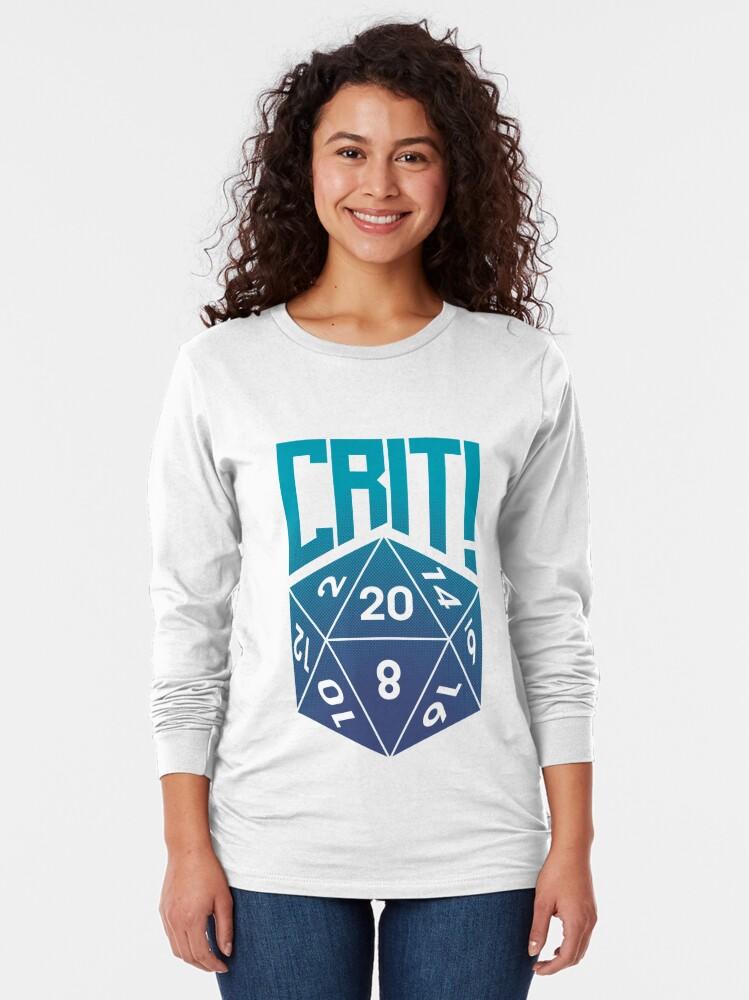 Alternate view of Crit Success - Blue Long Sleeve T-Shirt