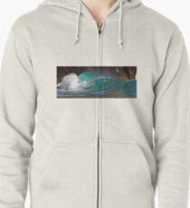Panoramic Wave Zipped Hoodie
