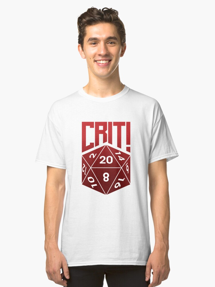 Alternate view of Crit Success - Red Classic T-Shirt