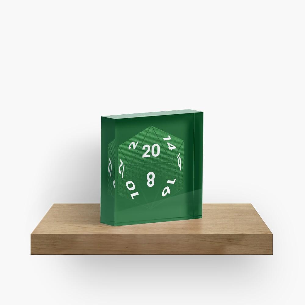 Crit Success - Green Acrylic Block