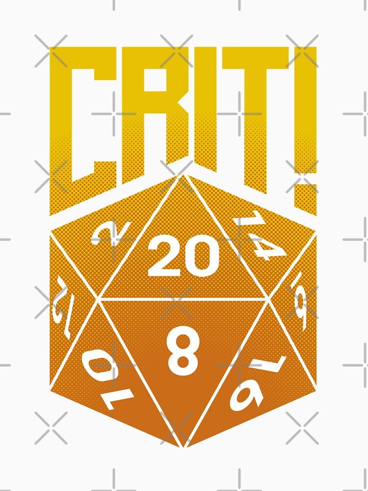 Crit Success - Yellow by jklettdesigns