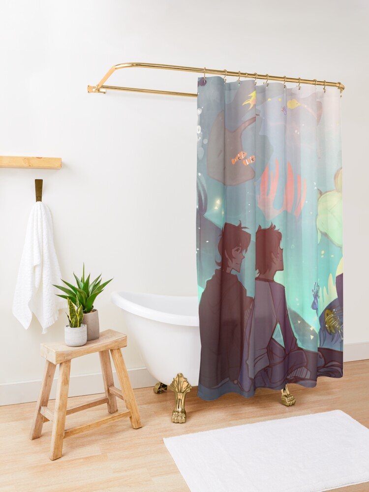Alternate view of Saltwater Room Shower Curtain