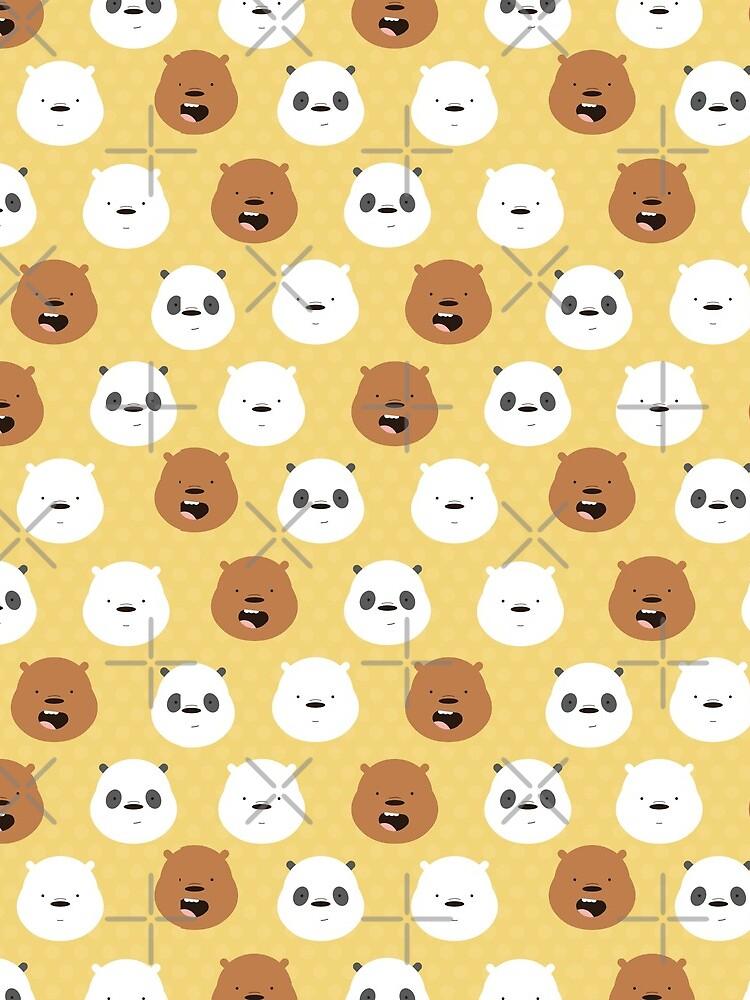 Cute We Bare Bears Pattern Illustration by MariOyama
