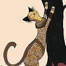Zora, Art Deco Cat by sneercampaign