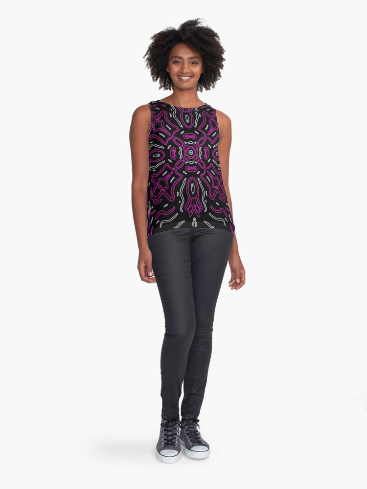 Alternate view of Ethnic Outline Pink Sleeveless Top