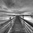 Dock at dusk by Avena Singh
