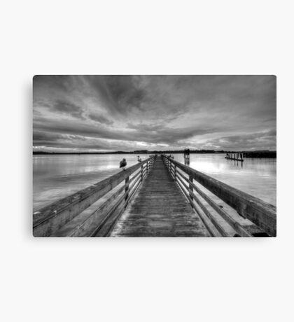 Dock at dusk Canvas Print