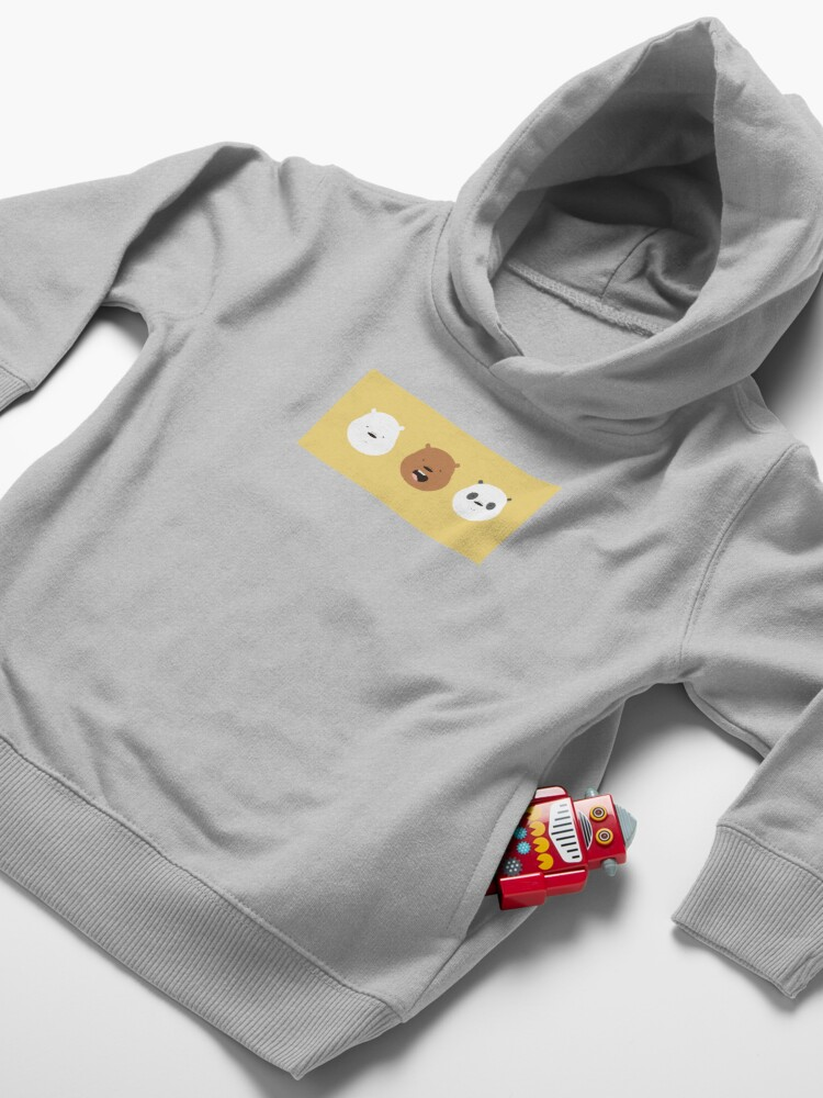Alternate view of Cute We Bare Bears Pattern Illustration Toddler Pullover Hoodie
