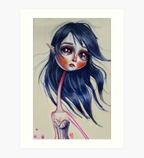 Elfling Study :: Cobalt Art Print