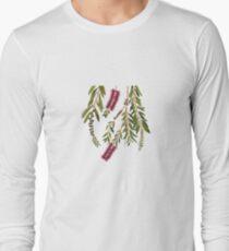 Australian Native Flora, Bottlebrush Long Sleeve T-Shirt
