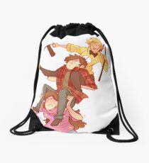 Tower of Trouble Drawstring Bag