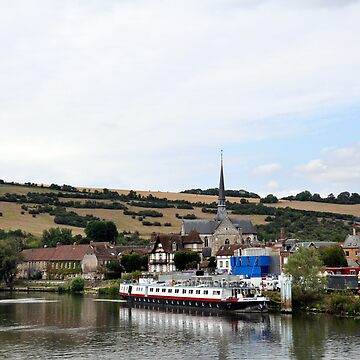 View of Les Andelys, France from Seine River by probono