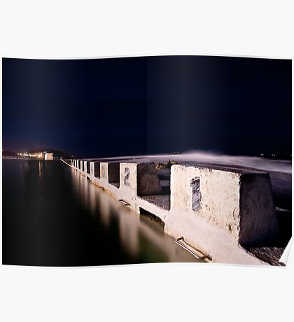 Merewether Blocks by Night Poster