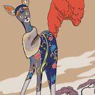 Isadora, Art Deco Cat by sneercampaign