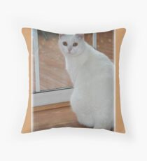 Kitty Mew Throw Pillow