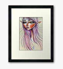 Elfling Study :: Powder Pink Framed Print