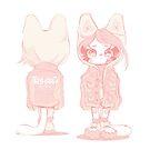T R Y H A R D 頑張りすぎな人 [colour me pink] || Kiki+Koko Artwork by Indigo East