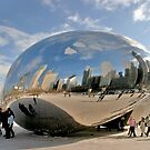 """""""Cloud Gate"""" aka """"The Bean"""" in Chicago by Susan Russell"""