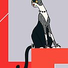 Kay, Art Deco Cat by sneercampaign