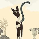 Josephine, Art Deco Cat by sneercampaign
