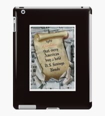 1946 Resolution - That every American buy and hold U.S. savings bonds iPad Case/Skin