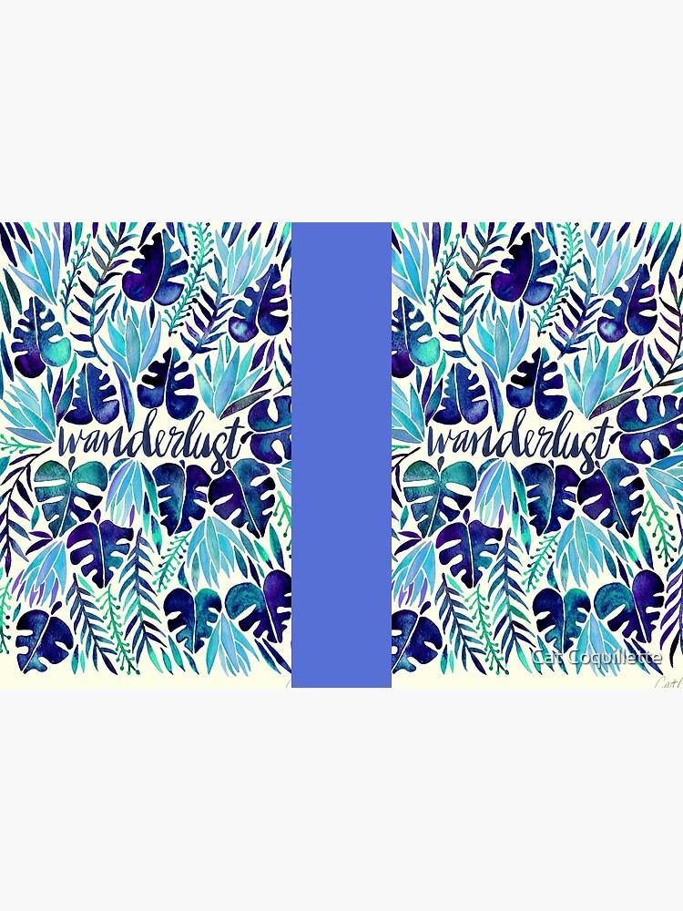 Tropisches Wanderlust - Blau von catcoq