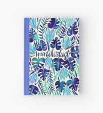 Tropical Wanderlust – Blue Hardcover Journal