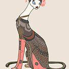 Valentina, Art Deco Cat by sneercampaign