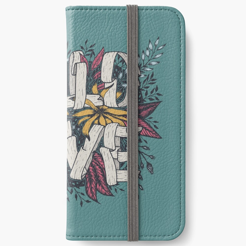 Wild Love - Green iPhone Wallet