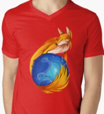 mozilla firefox Mens V-Neck T-Shirt