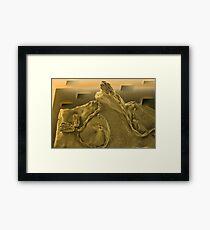 Surrealistic Fossils Framed Print