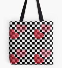 Heart Checkered Pattern Tote Bag