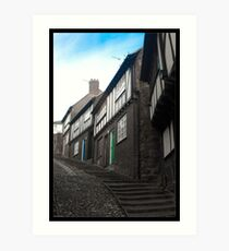 Cottages of Stepcote Hill Art Print