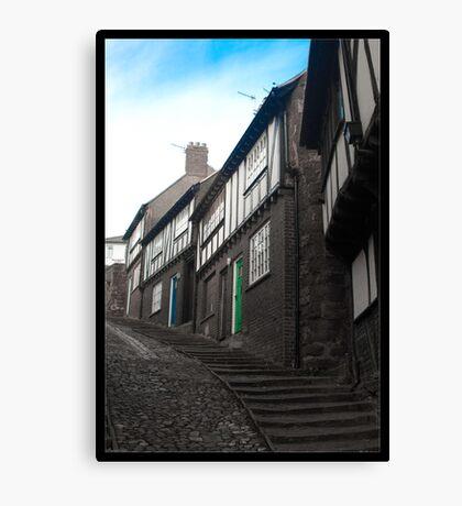 Cottages of Stepcote Hill Canvas Print