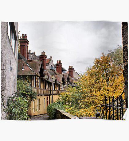 Dean Village Old Houses Poster